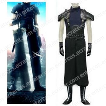 Final Fantasy VII Seven Last Order Zack Halloween Cosplay Costume  any size.