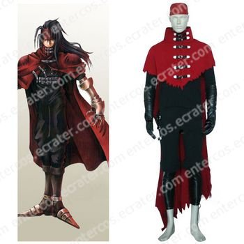 Final Fantasy VII Vincent Valentine Halloween Cosplay Costume any size.