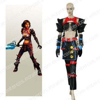 Final Fantasy X-2 Warrior Yuna Cosplay Costume  any size.