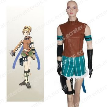 Final Fantasy X Rikku Halloween Cosplay Costume  any size.