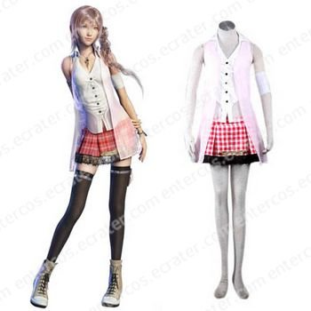 Absolutely 11 Replica Final Fantasy XIII 13 serah Cosplay Costume  any size.