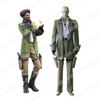Final Fantasy XIII Sazh Katzroy Halloween Cosplay Costume  any size.