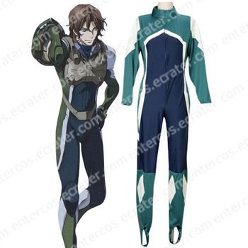 Mobile Suit Gundam 00 Lockon Stratos Pilot Suit Cosplay Costume any size.
