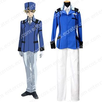 Mobile Suit Gundam 00 Union Uniform Cosplay Costume  any size.
