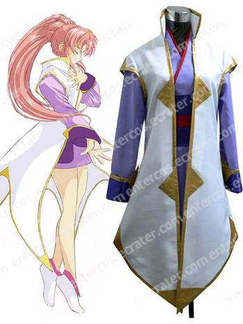 Gundam Seed Lacus Clyne Halloween Cosplay Costume  any size.