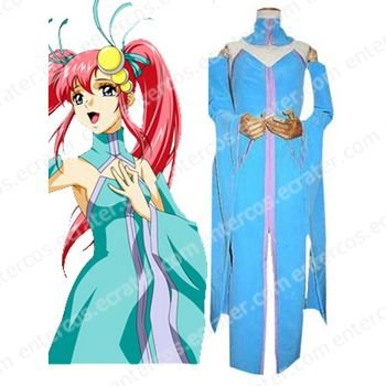 Mobile Suit Gundam SEED Lacus Clyne Singer Version Cosplay Costume  any size.
