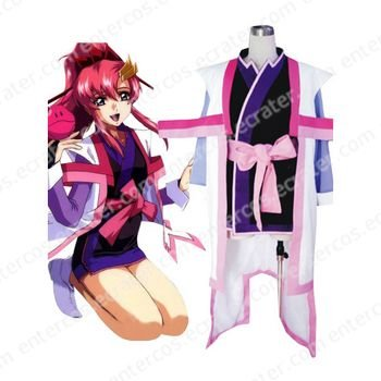 Mobile Suit Gundam SeedDestiny Lacus Clyne Halloween Cosplay Costume any size.