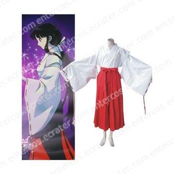 InuYasha Kikyo Cosplay Costume any size