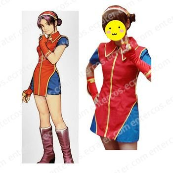 The King of Fighters Athena Asamiya Cosplay Costume any size