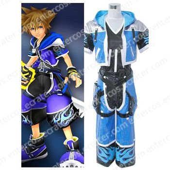 Kingdom Hearts 2 Sora Cosplay Costume any size