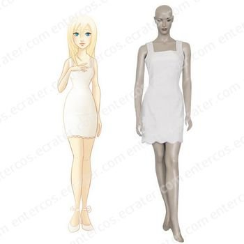 Kingdom Hearts Namine Halloween Cosplay Costume   any size