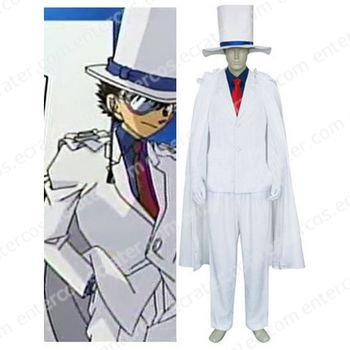 Meitantei Conan Kaito Kid Halloween Cosplay Costume  any size