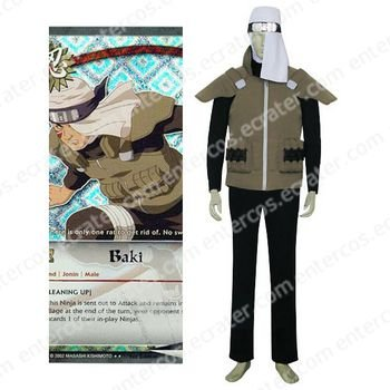 Naruto Baki Cosplay Costume  any size