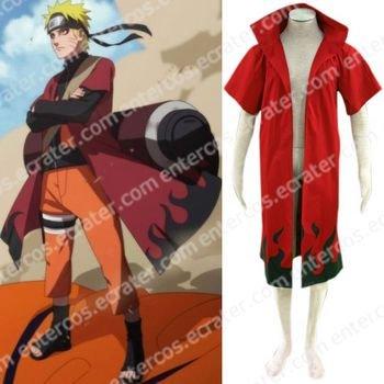 Naruto Uzumaki Naruto Sage Red Cosplay Costume any size