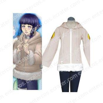 Naruto Hyuga Hinata Jacket Halloween Cosplay Costume  any size