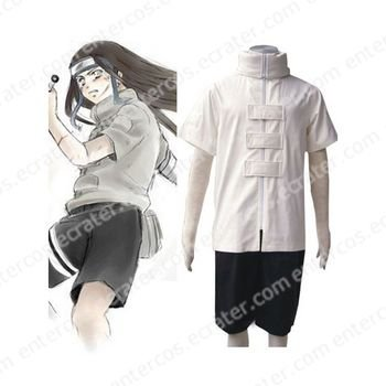 Naruto Hyuuga Neji Halloween Cosplay Costume  any size