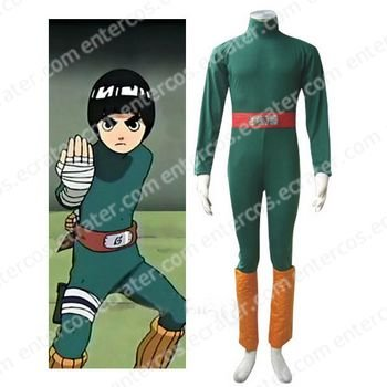 Naruto Rock Lee Halloween Cosplay Costume any size