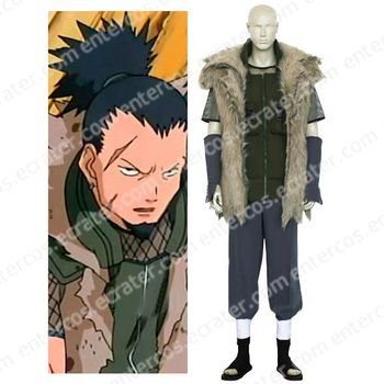 Naruto Shikaku Nara Cosplay Costume any size