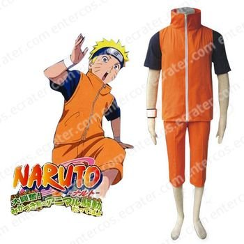 Naruto Shippuden Uzumaki Naruto Adult Halloween Cosplay Costume any size