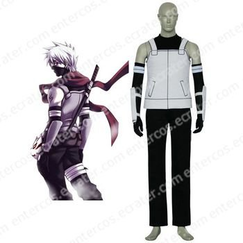 Black And White Naruto Anbu Halloween Cosplay Costume  any size
