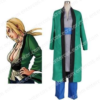 Naruto Tsunade 5th Hokage Halloween Cosplay Costume any size