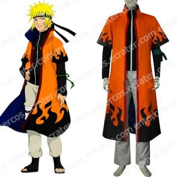 Naruto Uzumaki 6th Hokage Halloween Cosplay Costume any size