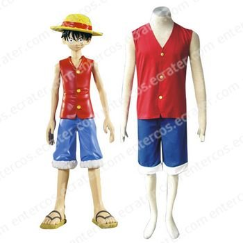 One Piece Luffy Halloween Cosplay Costume 3 any size