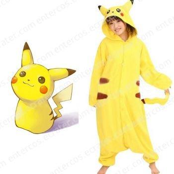 Pokémon Pikachu Cosplay Kigurumi Unmasking Costume  any size