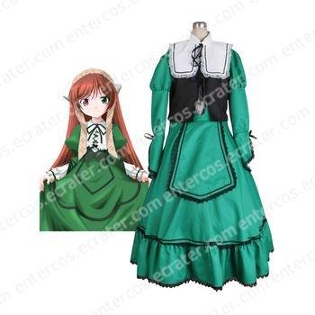 Rozen Maiden Suiseiseki Jade Stern Lolita Halloween Cosplay Costume any size