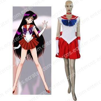 Sailor Moon Sailor Mars Raye Hino Cosplay Costume  any size
