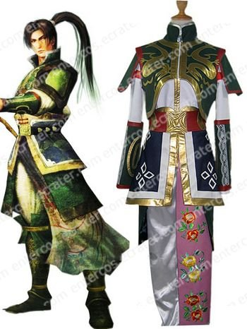 Dynasty Warriors 4 Jiang Wei Cosplay Costume  any size