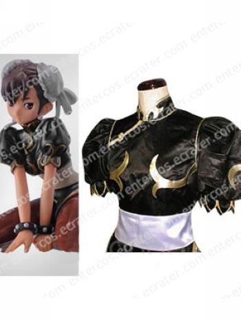 Street Fighter Chun-Li Black Halloween Cosplay Costume  any size