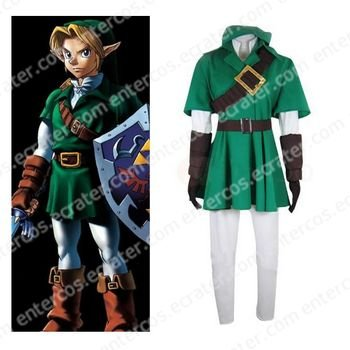 The Legend of Zelda Link Cosplay Halloween Costume  any size