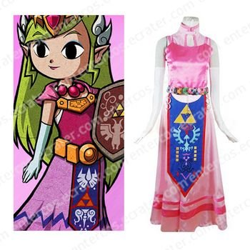 The Legend of Zelda Princess Zelda Halloween Cosplay Costume any size