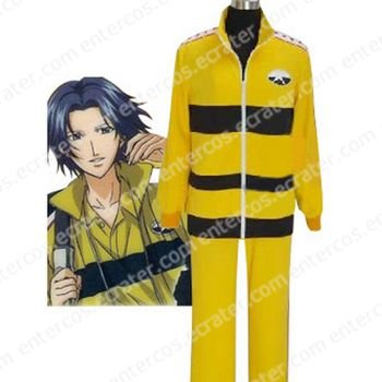 Prince Of Tennis Rikkai Junior High School Yellow Uniform Cosplay Costume any size