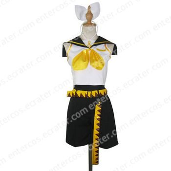 Vocaloid Kagamine Rin Halloween Cosplay Costume  any size