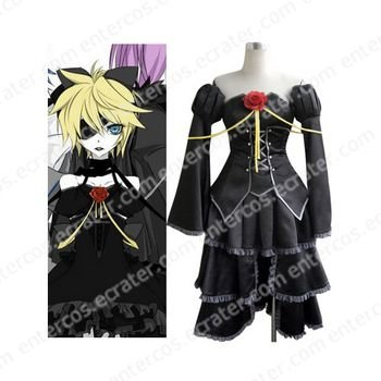 Vocaloid Len Kagamine Black Cosplay Costume  any size