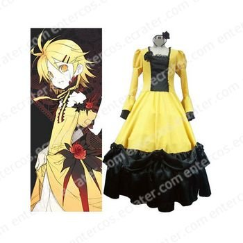 Vocaloid Rin Kagamine Yellow Halloween Cosplay Costume any size