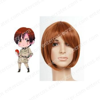 Brown 30cm Axis power Hetalias SOUTH ITALY Lovino Vargas Nylon Cosplay Wig