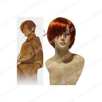 Hetalia Lovino Vargas Cosplay wig  2
