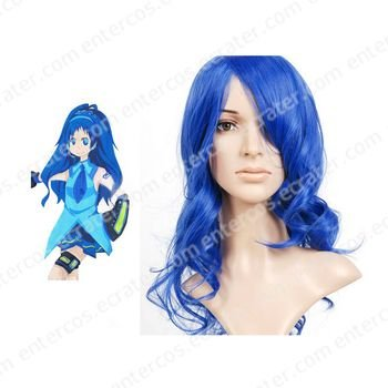 \Blue 45cm VOCALOID Nylon Cosplay Wig
