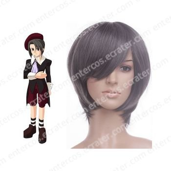 Gray 32cm When They Cry 3 Umineko no Naku Koro ni KANON Nylon Cosplay Wig