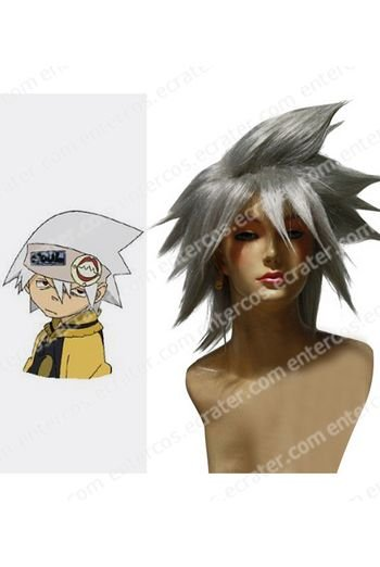 Silver Gray Soul Eater Cosplay Wig