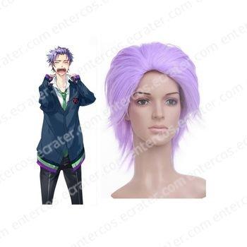 Purple 35cm starry�sky Amaha Tsubasa Nylon Cosplay Wig