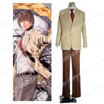 Death Note Light Yagami Cosplay Costume  any size