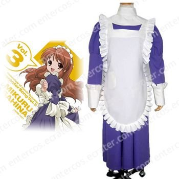 Haruhi Suzumiya Tsuruya Maid Dress Cosplay Costume any size