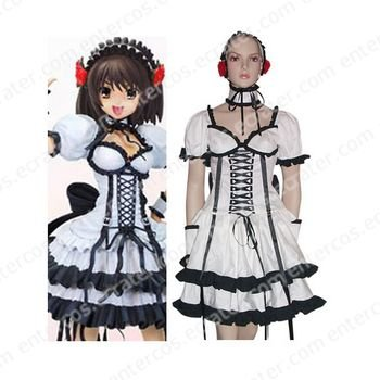 Melancholy of Haruhi Suzumiya Black And White Haruhi Suzumiya Lolita Cosplay Costume any size