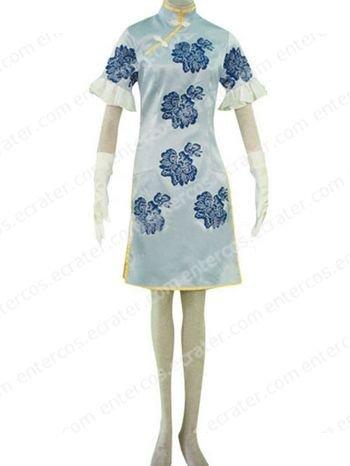 Battle Vixens Chou'un Shiryuu Blue Cosplay Costume  any size