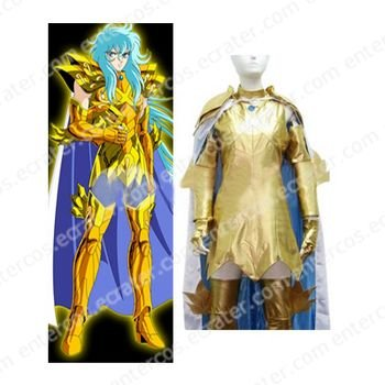 Saint Seiya Pisces Aphrodite Gold Cloths Cosplay Costume any size