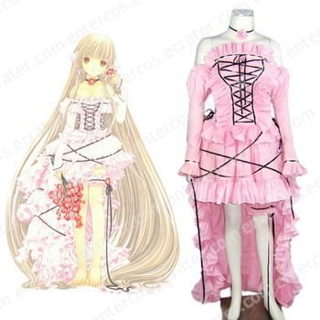 Chobits Chii Lolita Halloween Cosplay Costume  any size